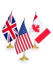 Engelskt - talande isolerade landsflaggor Arkivfoto
