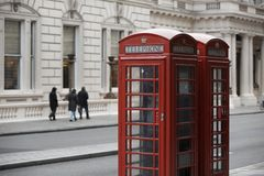 Engelskt telefonbås Royaltyfri Fotografi