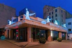 Engelsstatuen auf dem Dach in Riga Lettland Lizenzfreies Stockbild