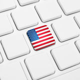 Engelstalig het Webconcept van de Verenigde Staten van Amerika of van de V.S. Na Stock Foto