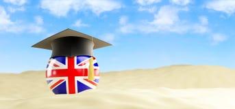 Engelstalig op vakantie, graduatie GLB bij het strand royalty-vrije illustratie