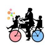Engendre y dos niños Foto de archivo libre de regalías