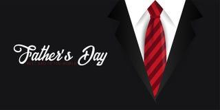 Engendrez la bannière de jour du ` s, carte de voeux avec la cravate Illustration de vecteur Photos libres de droits
