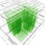 Engenharia de arquitetura Fotografia de Stock Royalty Free