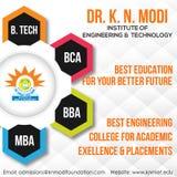 Engenharia superior, faculdade de PGDM & de MBA no NCR de Deli ilustração do vetor