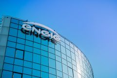 ENGIE-Logo angezeigt auf dem Firma-` s Hauptquartier lizenzfreie stockfotos