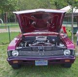 Engine 1969 du nova solides solubles de Chevy Images libres de droits