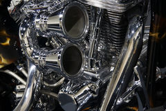 Engine. Close-up of a bike (roadster) engine Royalty Free Stock Photo