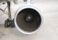 Engine. Close up of an engine of an jet plane Royalty Free Stock Photo