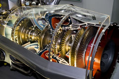 The engine of airplane Stock Photo