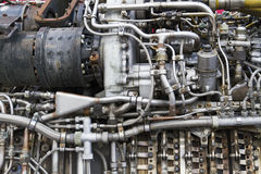 The engine of airplane Royalty Free Stock Photography