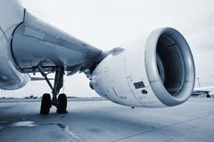 Engine of the airplane Royalty Free Stock Images