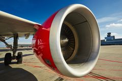 Engine of the airplane Royalty Free Stock Photos