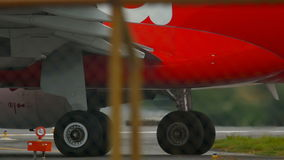 Engine of airplane close up stock video footage