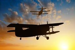Engine airplane flying Stock Photos