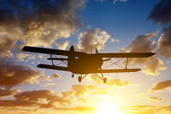 Engine airplane flying Stock Image