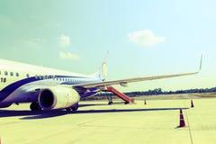 Engine of airplane Stock Photos