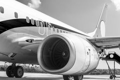 Engine of airplane Royalty Free Stock Image