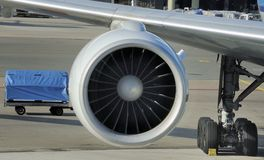 Engine of airplane Stock Images
