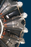 Engine of an airplane. Radial engine of an airplane Stock Images