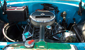 Engine in antique car Stock Images