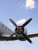 Engine arrêtée d'avion image stock