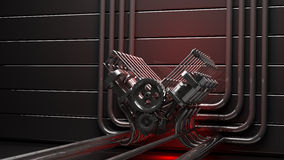 Engine background V8 Royalty Free Stock Images