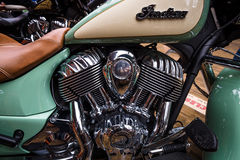 Engine of a bike Indian Chief Classic close-up Royalty Free Stock Images