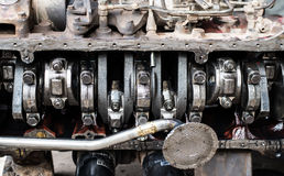 Engine block and crankshaft Royalty Free Stock Photography