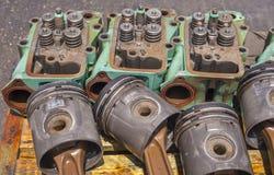 Engine Block Heads Royalty Free Stock Photo