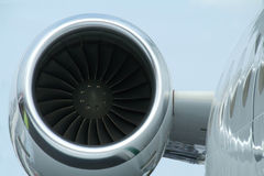 Engine of business jet royalty free stock photos