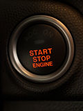 Engine button Royalty Free Stock Photo