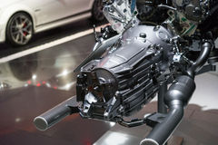 Engine in car dealership showroom Royalty Free Stock Photography