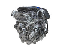 Engine of a car. Of the luxury class Stock Photography