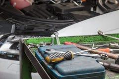 Engine car repair Stock Photos