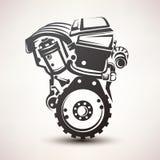 Engine car symbol Royalty Free Stock Image