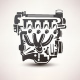 Engine car symbol Stock Image