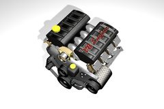Engine car V8 Royalty Free Stock Image