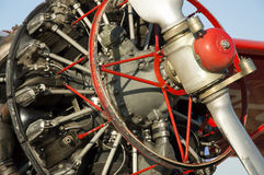 Engine Cessna, presentation machine at the airport Stock Photography