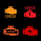 Engine check sign Stock Photos