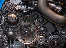 The engine. Close-up. Royalty Free Stock Photos