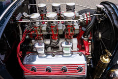 Engine in a Collectors Car Stock Photography