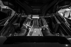 Engine compartment Lamborghini Diablo SV, 1999. Stock Photos