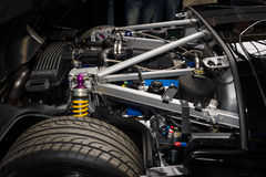 Engine compartment of a modern sports car Ford GT Royalty Free Stock Images