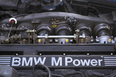 Engine compartment, motor m-power, old-car BMW Stock Image