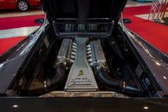 Engine compartment of a sports car Lamborghini Diablo VT 6.0, 2000. Royalty Free Stock Photo