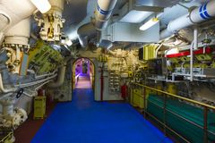 Engine compartment submarines Stock Images