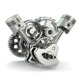 Engine concept. Gears and pistons. Stock Photography