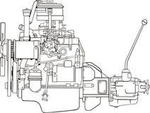Engine contour Royalty Free Stock Image