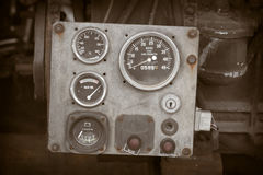 Engine control panel Stock Images